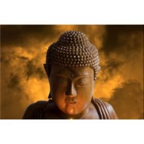 23900897 / Cuadro Estatua Buda Naranja