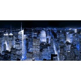 32249751 A / Cuadro Manhattan por la noche azul