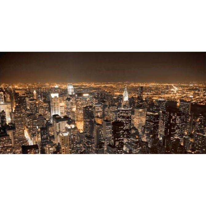 5832728 T / Cuadro Noche en Nueva York naranja