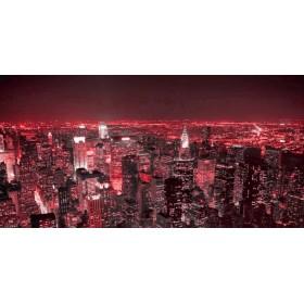 5832728 R / Cuadro Noche en Nueva York rojo
