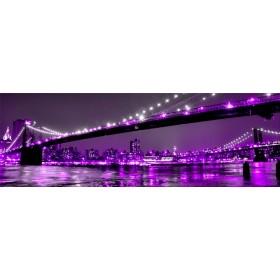 26961609_X / Cuadro Puente Brooklyn violeta