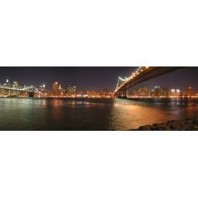 2737568_X / Cuadro New York y puente Brooklyn noche