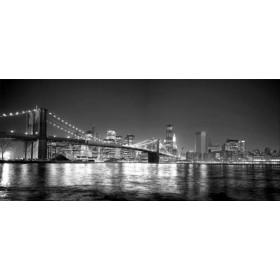 30284684- G / Cuadro Puente de Brooklyn, Nueva York, NY b/n