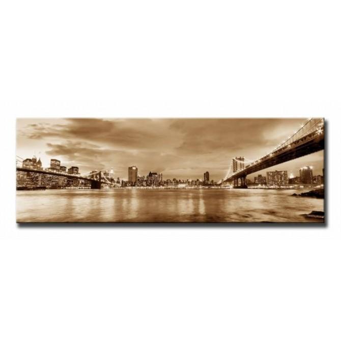 10111095-S / Cuadro Puente de Brooklyn y New York
