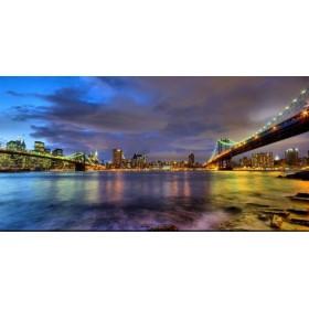 10111095 - Cuadro Puentes de Brooklyn y Nueva York
