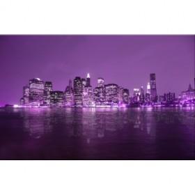 Cuadro Nueva York lila 04