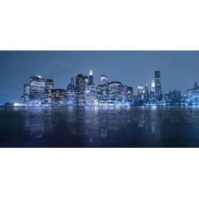 Cuadro Nueva York azul 04