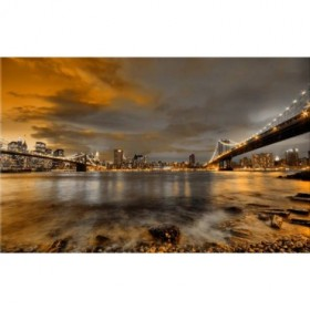 10111095-N / Cuadro Puentes de Brooklyn y Nueva York