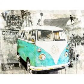 BRS118- Cuadro Beach Van (verde)