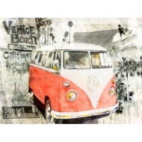BRS119 - Cuadro Beach Van (rojo)