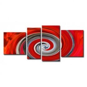 ME-041 / Cuadro Abstracto espiral roja