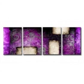 CA-001 / Cuadro Abstracto retro violeta