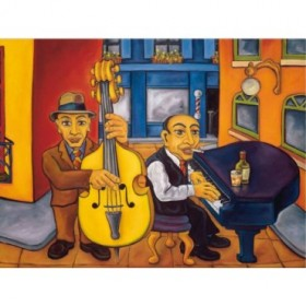 2328 / Cuadro Jazz Cat Alley II