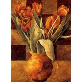 12036 / Cuadro Checkered Tulips II