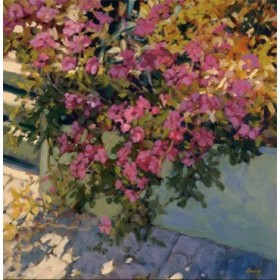 12443 / Cuadro Steps and Summer Flowers