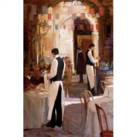 12186 / Cuadro Two Waiter, Place des Vosges