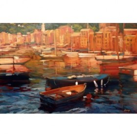 12441 / Cuadro Anchored Boats - Portofino
