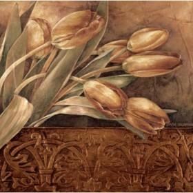 12229 / Cuadro Copper Tulips II