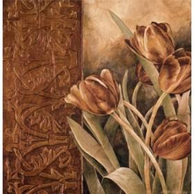 12228 / Cuadro Copper Tulips I