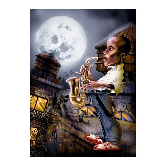 Cuadro El Saxofonista -2