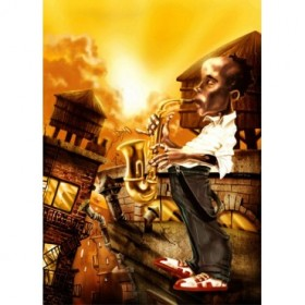 Cuadro El Saxofonista -1