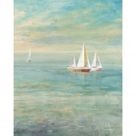 Sunrise Sailboats II Nautical