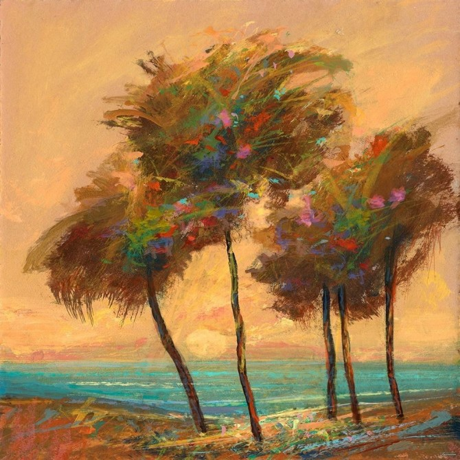Palms Setting Sun