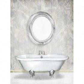 Gray Floral Bath