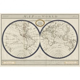 Torkingtons World Map with Indigo