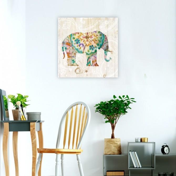 Boho Paisley Elephant I