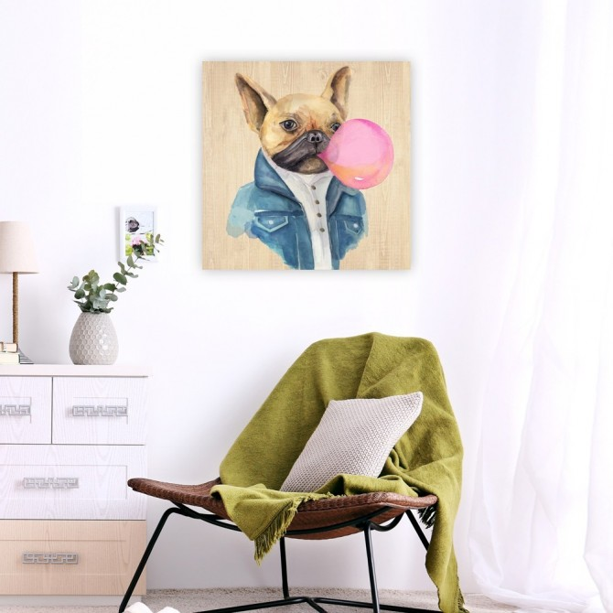 A Blowing Bubble French Bulldog
