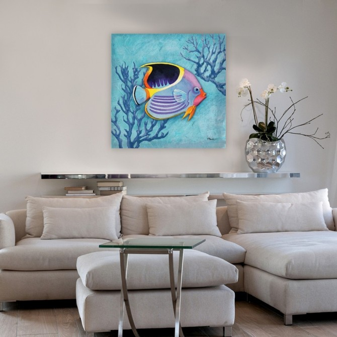 Azure Tropical Fish I