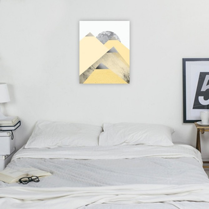 Yellow and Grey Mountains 2