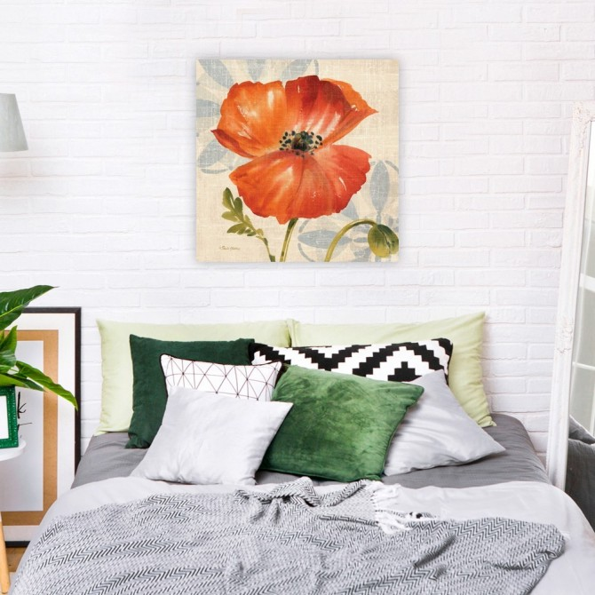 Watercolor Poppies I