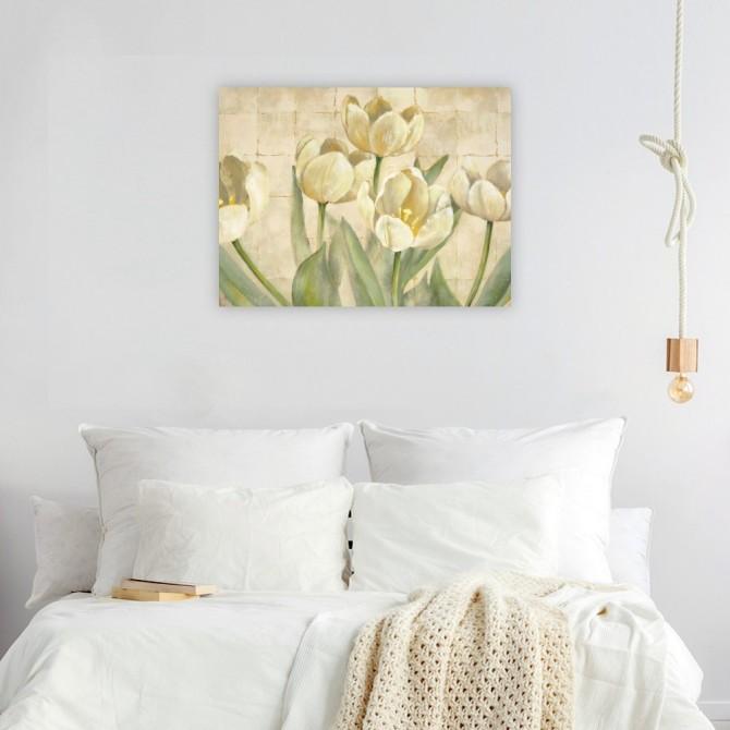 White Tulips on Ivory