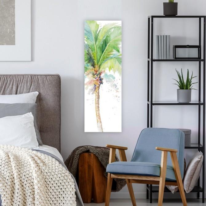 Watercolor Coconut Palm Panel