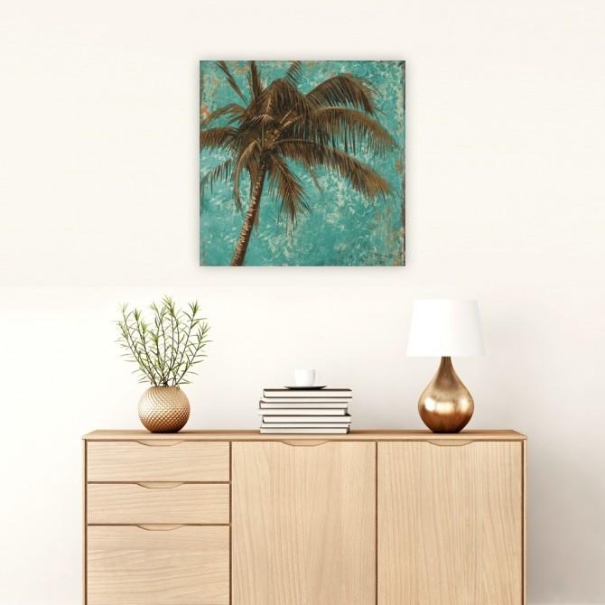 Palm on Turquoise I