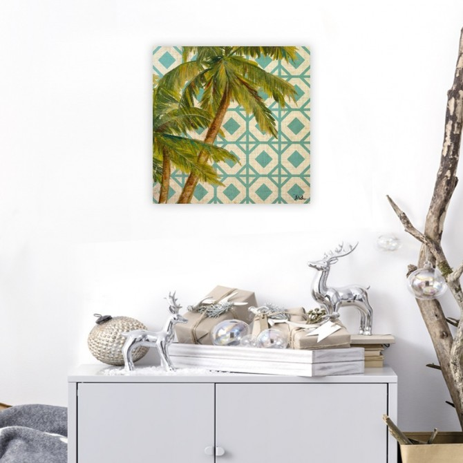 Beach Palm Turquoise Pattern I