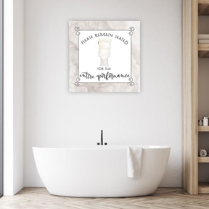 Bath Humor Remain   Seated