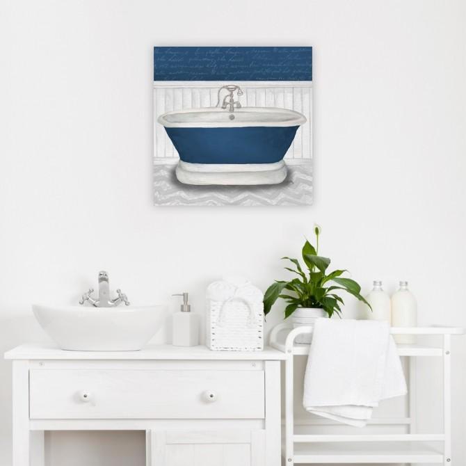 Deep Blue Nautical Bath I
