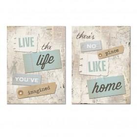 Juego de 2 cuadros- Home & Love 05