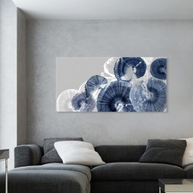 Great Wrapped Canvas - Indigo Orbit