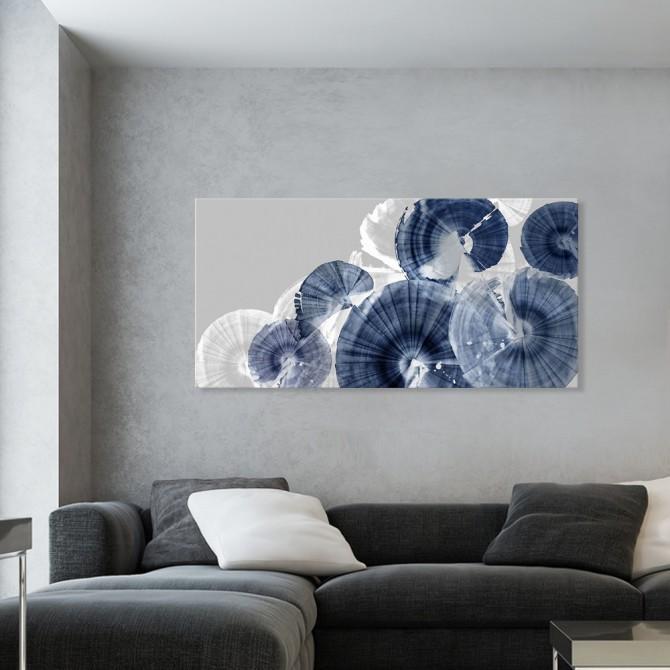 Cuadro Abstracto Grande - Indigo Orbit - 200x100 cm