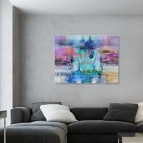 Cuadro Abstracto Grande - Impressions II - 120x90 cm