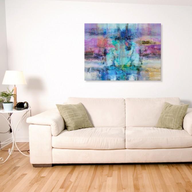 Cuadro Abstracto Grande - Impressions II - 135x100 cm