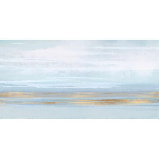 Cuadro Abstracto Grande - Sky Blue Perspective - 160x80 cm