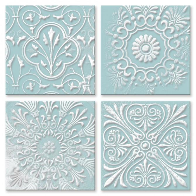 Conjunto 4 Cuadros Decorativos - Floral Pop