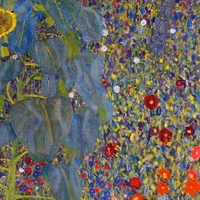 Klimt -Farm Garden With Sunflowers