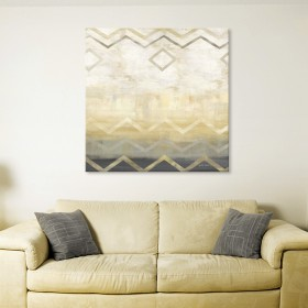 Abstract Waves Black-Gold I