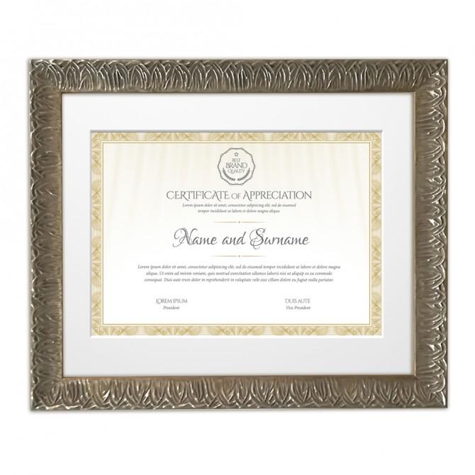 Marco Plata Diploma DIN A3